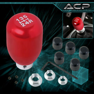 Universal 5 Speed Red Aluminum Shift Knob 5spd Manual Transmission Shifter