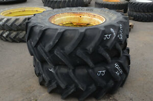 Set Of 2 Wheels Continental Tires 420 85 R28 Contract Ac85 Jj