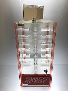 Sunglasses Acrylic Display Counter Top 24 Holders Rotating Case Extra Storage