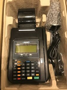 Hypercom T Series T7 Plus Credit Card Terminal Reader Machine W power Supply New