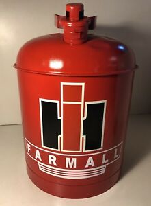 Vintage Eagle 5 Gal Safety Gas Can Decorated International Harvester Ih Farmall