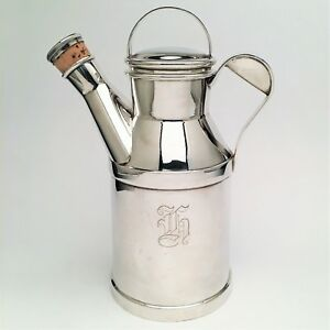 Vintage 1930 S Art Deco Reed And Barton Silver Plated Milk Can Cocktail Shaker