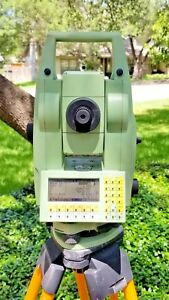 Leica Tca1101plus 1 Autotracking Robotic Total Station W Machine Guidance