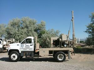 2002 Gmc C6500 With Texoma 254 Drill Rig Set Up For Anchor Testing