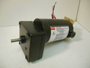 New Dayton 4z536a Dc Gearmotor 1 30 Hp 90v 50 In lbs 21 Rpm