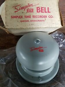 Nos Simplex Time Recorder Co Fire Alarm Bell Type 4017 61 Industrial Ringer