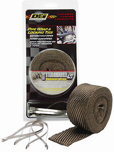 Dei Titanium Exhaust Pipe Wrap Locking Ties Kit 2 In X 25 Ft Lr Technology