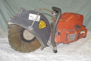 Husqvarna 371k Concrete Cut off Abrasive Saw 14 Blade Chop Gas Powered