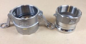 Dixon 300 d ss 300 a ss Stainless Steel 3 Female Cam Lock And Coupler New