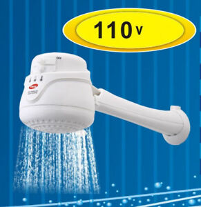 Electric Shower Head Tankless Water Heater Instant Hot Water 110v Free Arm