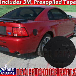 1999 2000 2001 2002 2003 2004 Ford Mustang Black Painted Gas Door Cover Overlay