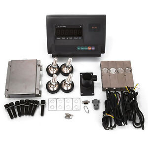 2000lbs 1t Livestock Scale Kit Animal Weighing Junction Box Indicator