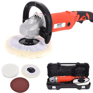 6 Variable Speed Car 7 Electric Polisher Buffer Waxer Sander Detail Boat W case
