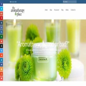 Aromatherapy Mobile Friendly Responsive Website Business For Sale Hosting
