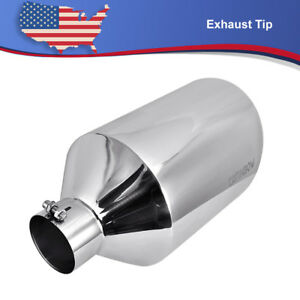 Diesel Stainless Steel Bolt on Exhaust Tip 4 Inlet 10 Outlet 18 Length