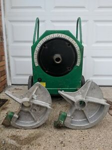 Greenlee 555 Conduit Bender Great Condition With 1 1 2 And 2 Die Shoes
