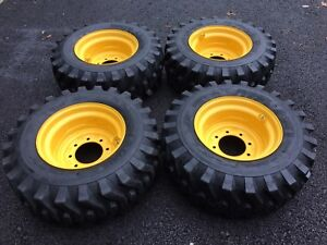 12 16 5 New Skid Steer Tires wheels rims New Holland L175 l221 l223 l225 l230