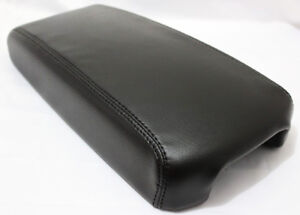 Black Center Console Lid Armrest Cover Synthetic Leather For 13 18 Nissan Altima
