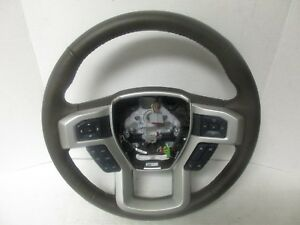 2015 2017 Ford F 150 Lariat Brown Steering Wheel W controls