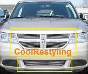 For 2009 2010 Dodge Journey Billet Grille Grill Combo Inserts