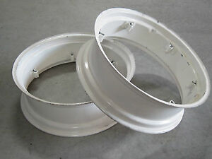 2 New Wheel Rims 9x28 6 loop Fit Many Massey Harris Colt 50 101 102 Jr 9 28