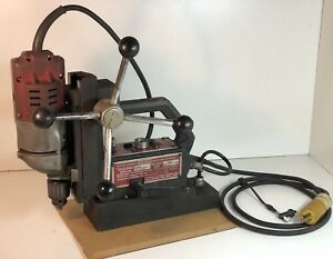 Gamag Electromagnetic Drill Press Base 1208 Milwaukee Drill 4253 1 Works Great