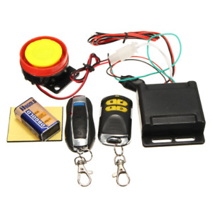 Motorcycle Scooter Security Alarm System Anti theft 2remote Control Engine Start