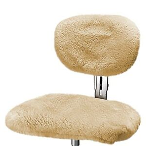 Us Sheepskin 9365l 02 Camel Large Steno Chair Cover