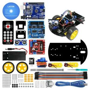 Robot Car Kit Module 2wd Ultrasonic Smart Tracking For Arduino Diy