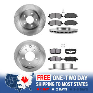 Front And Rear Brake Rotors Metallic Pads For Sebring Jeep Compass Patriot 200