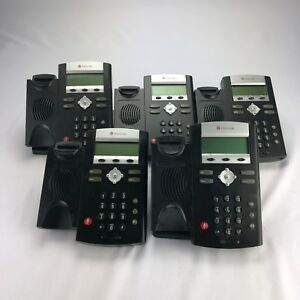 Lot Of 5 Polycom Ip 335 Business Phones No Handsets Some Stands 2201 12375 001