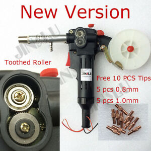 Free Nozzle Tip Mig Welding Spool Gun Wire Feed Aluminum Tooth Roller Torch 180a
