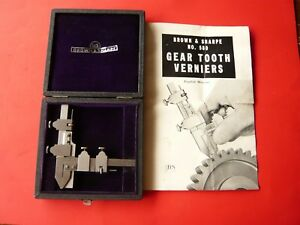 Vintage Brown Sharpe 580 Gear Tooth Caliper W case And Instructions Nice
