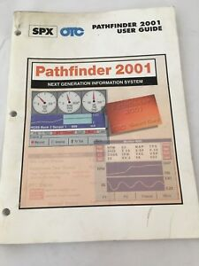 Otc Spx Pathfinder 2001 Scanner Reader Users Guide Book Manual Original Genuine