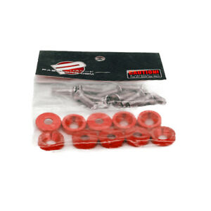 10pcs Password Jdm Fender Washer Kit Fast Shipping Usa Seller Pwjdm Red