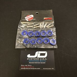 10pcs Password Jdm Fender Washer Kit Fast Shipping Usa Seller Pwjdm Blue