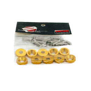 10pcs Password Jdm Fender Washer Kit Fast Shipping Usa Seller Pwjdm Gold