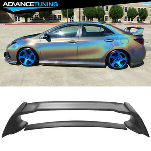 Fits 14 19 Toyota Corolla Sedan 4 door Matte Black Trunk Spoiler Wing Abs