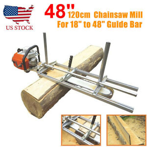 Fit 14 48 Chainsaw Guide Bar Chain Saw Mill Log Planking Lumber Cutting
