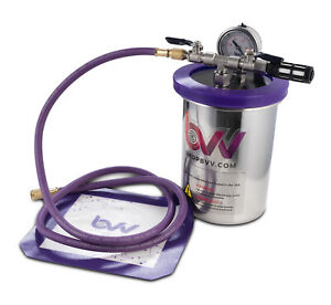 Best Value Vacs 2 Quart Tall Stainless Steel Vacuum Chamber