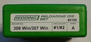 80155 REDDING 308 WINCHESTER307 WINCHESTER DIE SET - BRAND NEW - FREE SHIPPING