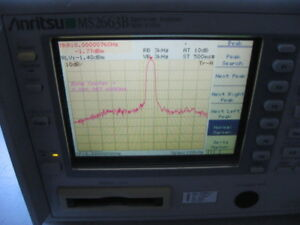 Anritsu Ms2663b Spectrum Analyzer Tested 9 Khz 8 1 Ghz Bw Color Display