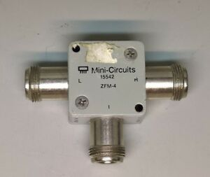 Mini circuits Zfm 4 5 1250mhz Coaxial Frequency Mixer Connector Rf Type N