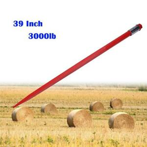 39 Square Hay Bale Spear 3000lbs Capacity 1 3 4 Wide W Nut And Sleeve Conus 2