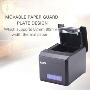 Hoin 80mm Portable Thermal Receipt Printer Usb lan Waterproof 300mm s For Pos Us