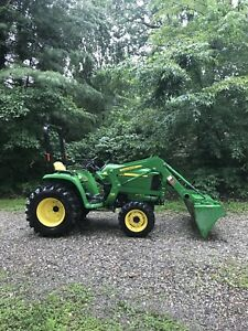 John Deere 3038e 4wd Hst And 305 Loader Only 250 Hours