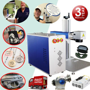 30w Fiber Laser Marking Machine Metal Engraver Marker With Free Rotary Device