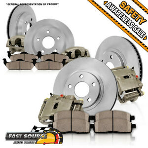 Front And Rear Oe Brake Calipers Rotors Ceramic Pads 2001 2007 Toyota Sequoia