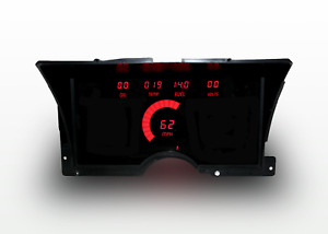 1992 1994 Chevy Truck Digital Dash Panel Red Led Gauges Made In The Usa