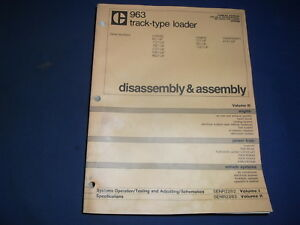 Cat Caterpillar 963 Track Loader Dis assembly Service Shop Repair Book Manual